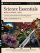 Science Essentials, Middle School Level: Lessons and Activities for Test Preparation (078797577X) cover image
