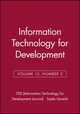 Information Technology for Development, Volume 12, Number 2 (078798647X) cover image