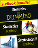 Statistics I & II For Dummies 2 eBook Bundle: Statistics For Dummies & Statistics II For Dummies (111859567X) cover image