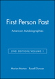 First Person Past, Volume 1: American Autobiographies, 2nd Edition (188108907X) cover image