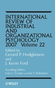 International Review of Industrial and Organizational Psychology, Volume 22, 2007 (0470031980) cover image