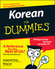 Korean For Dummies (0470037180) cover image