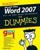 Word 2007 All-in-One Desk Reference For Dummies (0470040580) cover image