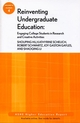 Reinventing Undergraduate Education: Engaging College Students in Research and Creative Activities: ASHE Higher Education Report, Volume 33, Number 4 (0470283580) cover image