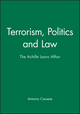 Terrorism, Politics and Law: The Achille Lauro Affair (0745606180) cover image