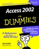 Access 2002 For Dummies (0764508180) cover image