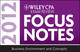 Wiley CPA Exam Review Focus Notes 2012, Business Environment and Concepts (1118295080) cover image