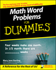 Math Word Problems For Dummies (0470245581) cover image