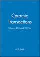 Ceramic Transactions Volumes 200 And 201 Set (0470474181) cover image