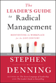 The Leader's Guide to Radical Management: Reinventing the Workplace for the 21st Century (0470548681) cover image