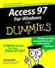Access 97 for Windows For Dummies (0764500481) cover image