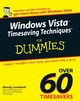 Windows Vista Timesaving Techniques For Dummies (0470053682) cover image