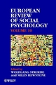 European Review of Social Psychology, Volume 10 (0471899682) cover image