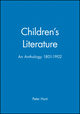 Children's Literature: An Anthology 1801 - 1902 (0631210482) cover image