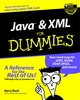 Java and XML For Dummies (0764516582) cover image