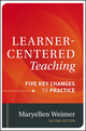 Learner-Centered Teaching: Five Key Changes to Practice, 2nd Edition (1118119282) cover image