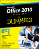 Office 2010 All-in-One For Dummies (0470497483) cover image