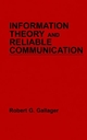 Information Theory and Reliable Communication (0471290483) cover image