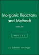 Inorganic Reactions and Methods, Cumulative Index: Volumes 1 - 19, Parts1 & 2 Author / Subject and Compound Indexes (0471328383) cover image