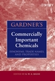 Gardner's Commercially Important Chemicals: Synonyms, Trade Names, and Properties (0471735183) cover image