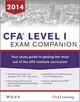 CFA level I Exam Companion: The Fitch Learning / Wiley Study Guide to Getting the Most Out of the CFA Institute Curriculum (1118832183) cover image