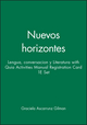 Nuevos horizontes: Lengua, conversacion y Literatura 1e with Quia Activities Manual Registration Card 1e Set (0470089784) cover image