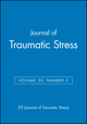 Journal of Traumatic Stress, Volume 20, Number 2 (0470183284) cover image
