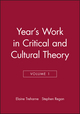 Year's Work in Critical and Cultural Theory, Volume 1 (0631188584) cover image