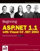 Beginning ASP.NET 1.1 with Visual C# .NET 2003 (0764557084) cover image