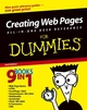 Creating Web Pages All-in-One Desk Reference For Dummies, 2nd Edition (0764568884) cover image