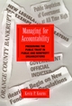 Managing for Accountability: Preserving the Public Trust in Public and Nonprofit Organizations (0787902284) cover image