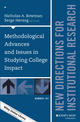 Methodological Advances and Issues in Studying College Impact: New Directions for Institutional Research, Number 161 (1119045584) cover image