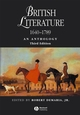 British Literature 1640 - 1789: An Anthology, 3rd Edition (1405119284) cover image