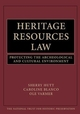 Heritage Resources Law: Protecting the Archeological and Cultural Environment (0471251585) cover image