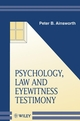 Psychology, Law and Eyewitness Testimony (0471982385) cover image