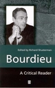 Bourdieu: A Critical Reader (0631188185) cover image
