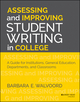 Assessing and Improving Student Writing in College: A Guide for Institutions, General Education, Departments, and Classrooms (1118559185) cover image