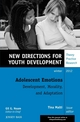 Adolescent Emotions: Development, Morality, and Adaptation: New Directions for Youth Development, Number 136 (1118580885) cover image