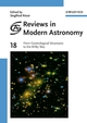 Reviews in Modern Astronomy, Volume 18, From Cosmological Structures to the Milky Way (3527406085) cover image