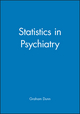 Statistics in Psychiatry (0470711086) cover image