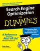 Search Engine Optimization For Dummies (0764567586) cover image