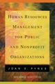 Human Resources Management for Public and Nonprofit Organizations, 2nd Edition (0787970786) cover image