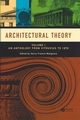 Architectural Theory: Volume I - An Anthology from Vitruvius to 1870 (1405102586) cover image
