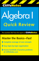 CliffsNotes Algebra I Quick Review, 2nd Edition (0470880287) cover image