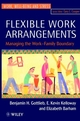 Flexible Work Arrangements: Managing the Work-Family Boundary (0471962287) cover image