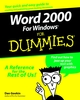 Word 2000 for Windows For Dummies (0764504487) cover image