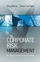 Corporate Risk Management: An Organisational Perspective (0470015888) cover image