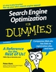 Search Engine Optimization For Dummies, 2nd Edition (0471979988) cover image