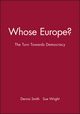 Whose Europe?: The Turn Towards Democracy (0631219188) cover image