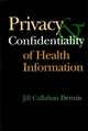 Privacy and Confidentiality of Health Information (0787952788) cover image